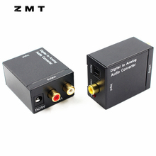 Digital to Analog Audio Converter Cable SPDIF Fiber Coaxial Audio RCA Signal to Analog L/R Adapters Decoder for LED TV XBOX360