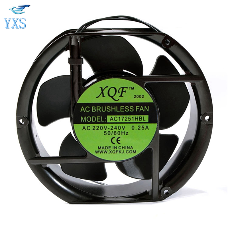 AC17251HBL AC 220V-240V 0.25A 17251 17CM 172*150*51mm Humidifier Double Ball Bearing Cooling Fan delta new efb1548vhg 17251 17cm 48v 0 83a circular drive cooling fan for 172 172 51mm