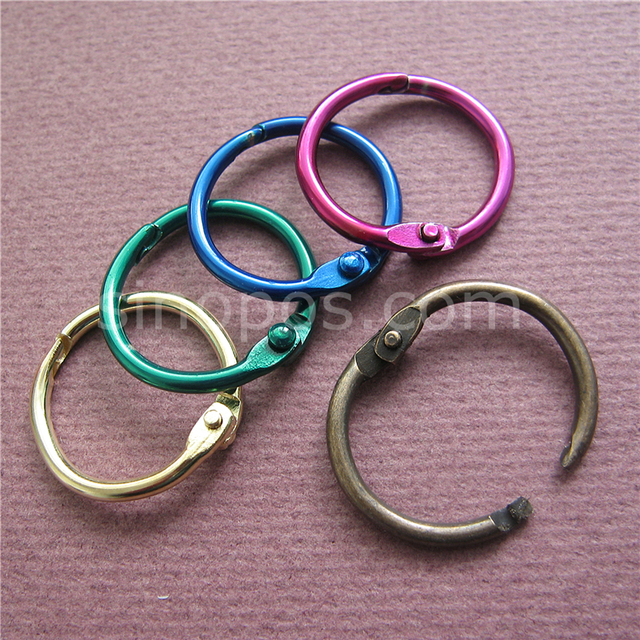 Colored Metal Split Rings 20mm, Ring Binder Hinged Split Design ...