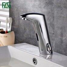 Смеситель для раковины FLG для ванной комнаты датчик картриджи крана Автоматический Инфракрасный датчик хромированный литой холодный горячий кран для ванной комнаты 8901