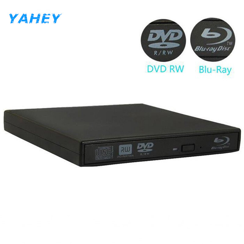 Bluray Player External USB 2.0 DVD Drive Blu-ray 3D 25G 50G BD-R BD-ROM CD/DVD RW Burner Writer Recorder for Laptop Computer PC 525a all iin 1 usb 2 0 3 0 5 25 computer cd rom drive media dashboard black