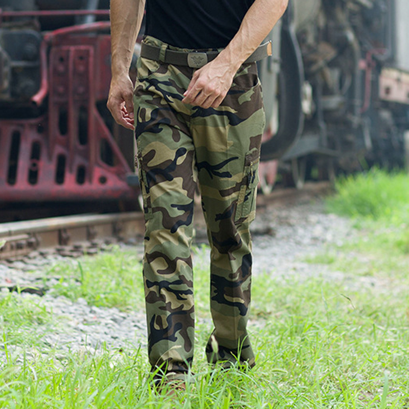 Trousers Mens Outwear Overalls Military-Pants Camouflage-Pants Cargo Tactical Male Multi-Pockets