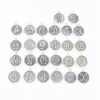 26pcs Set Fashion Diameter 20mm Alphabet Jewelry A To Z Initial Letter Charm For DIY Bracelet