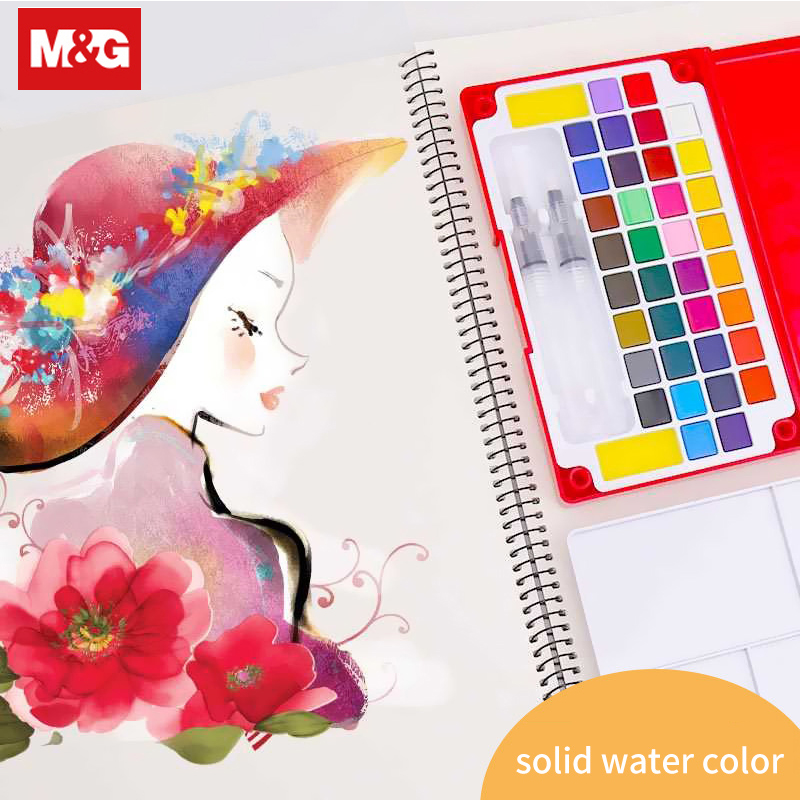 Solid Watercolor Paint Water Brush Pen 12 36 Colors Travel Water Color Pigment Brush Marker Pen Student Art Supplies ZPLN6504 in Water Color from Office School Supplies