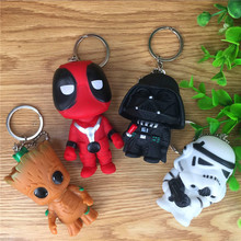New 1pcs Deadpool Avenger Star Wars Superhero Cartoon Keychain Anime Accessories Key Chain Key Cover DIY Key Ring Gift for Men цена в Москве и Питере