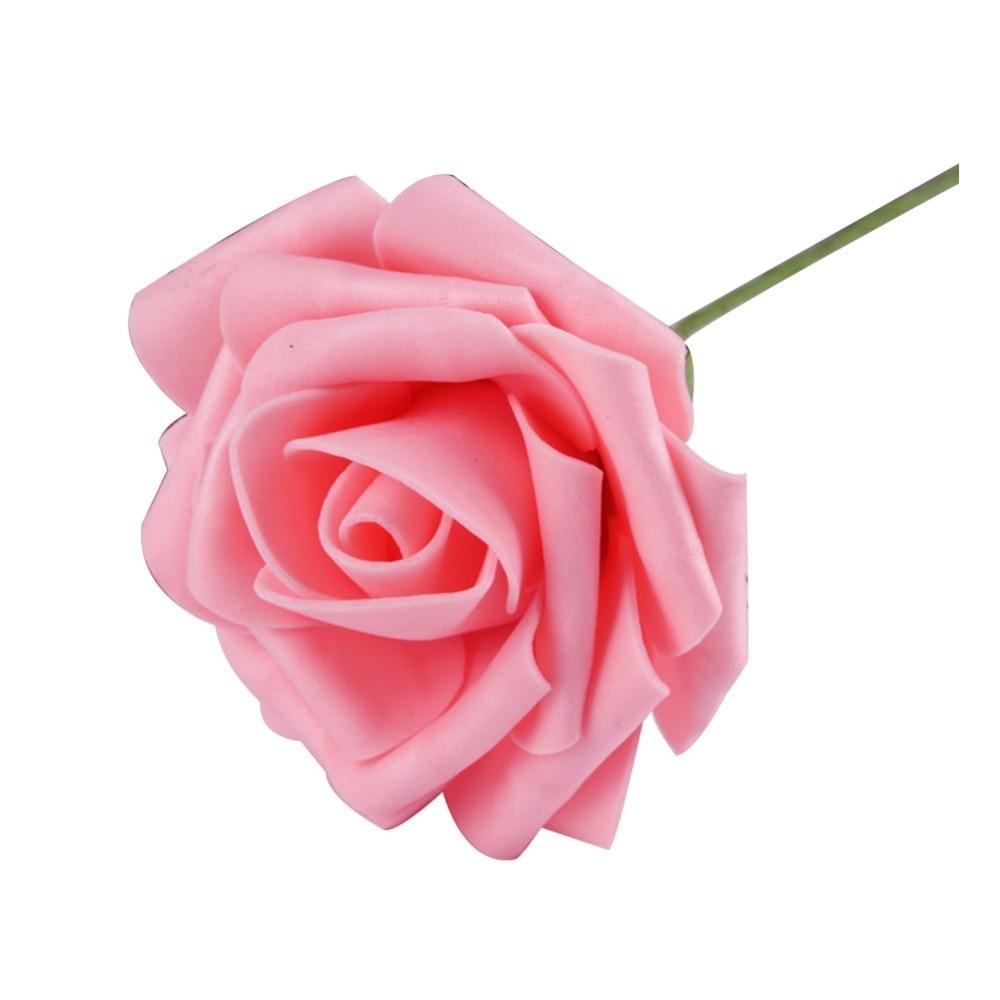 Venta caliente 1 Unid 8 cm Espuma Rosa Artificial Flores Decoración de La Boda A