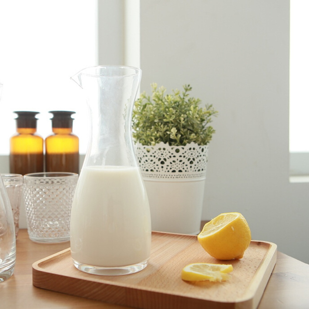 New Keyama Nordic Style 1pcs Premium Unleaded Hand Blown Glass Water Jar Milk Juice Bottle Glass
