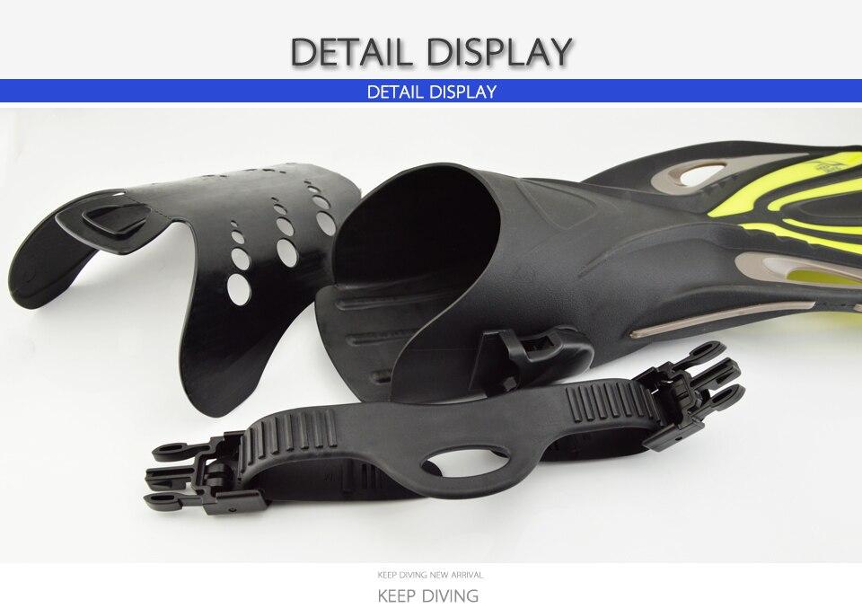 Garder la plongée à talon ouvert plongée sous-marine longues palmes réglables plongée en apnée nageoires de natation spécial pour les bottes de plongée chaussures Monofin Gear - 3