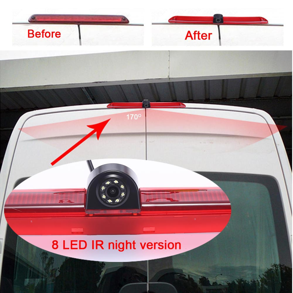 CCD brake light Car Camera Back Up Rear View Parking for MERCEDES BENZ Sprinter VW Crafter Transporter waterproof night vision in Vehicle Camera from Automobiles Motorcycles