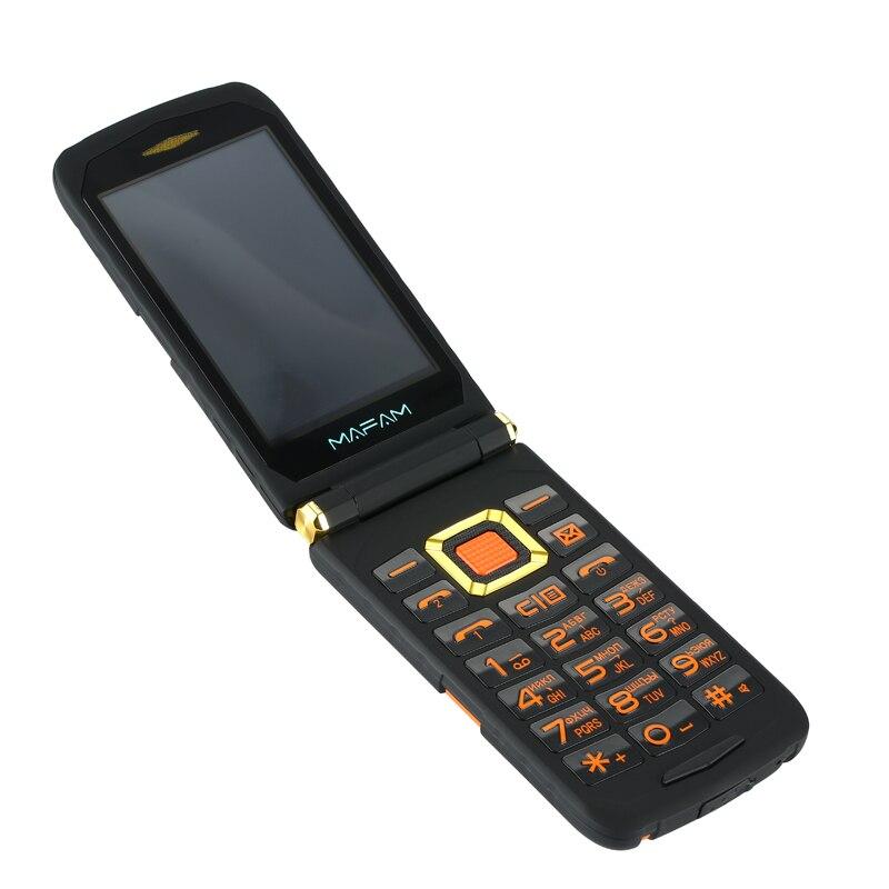 Mampa Flip Cell X9 double écran double SIM réponse d'appel à une touche longue veille écran tactile robuste téléphone Mobile Senior P008 - 4