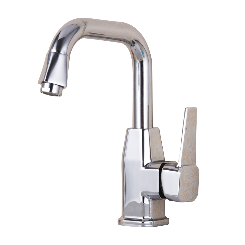 Polished chrome bathroom sink faucet single handle dolphin basin mixer taps deck mounted hot and - Dolphin faucets ...