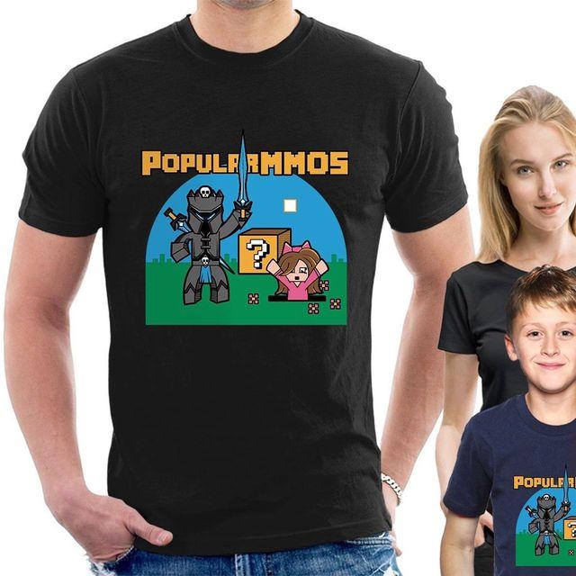 a6b997ce28f2 PopularMMOS T-SHIRT Pat & Jen youtubers Adults Childrens Kids sizes tee B40  Cartoon t shirt men Unisex New Fashion tshirt Loose