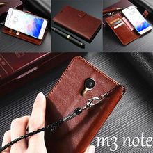 For Meizu m3 note 5.5″ case cover basiness Luxury flip leather case for Meizu m3 note Crazy horse wallet Phone Bags Cases