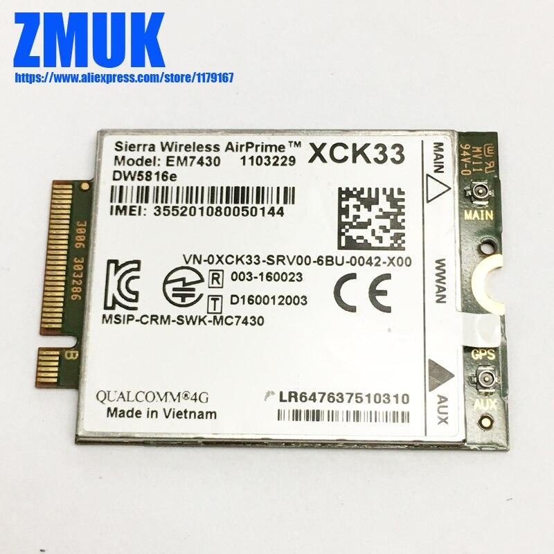 For Dell EM7430 DW5816e GOBI6000 Sierra Wireless Qualcomm 4G LTE WWAN NGFF Card