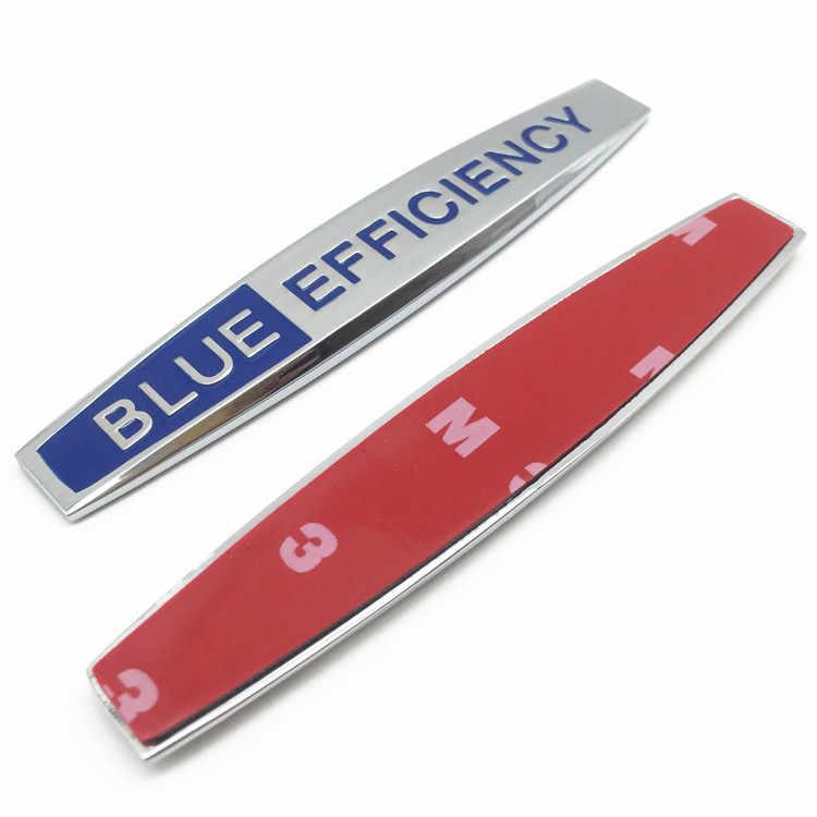 2 unids/lote 3D de Metal estilo de coche azul eficiencia Avantgarde Lorinser Soprts VIP lateral Auto Fender emblema logotipo trasero placa