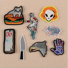 The People Head And Hand Badge Repair Patch Embroidered Iron On Patches For Clothing Close Shoes Bags Badges Embroidery
