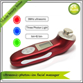 Home Use Rechargeable 3MHZ Ultrasound Ultrasonic Galvanic Photon Ion Face Beauty Facial Massager Roller