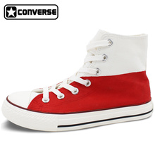 Poland Flag Converse Men Women Hand Painted Canvas Shoes Custom Design High Top Sneaker Birthday Christmas Gifts for Man Woman