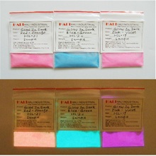 glow in dark pigment, glow in dark powder, color: blue green..., widely used, high quality, long glow in the dark ..