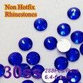 Free Shipping Nail Art Rhinestone Sapphire Color SS30(6.3-6.5mm) 288pcs/pack Non Hotfix Flatback Crystal Stones
