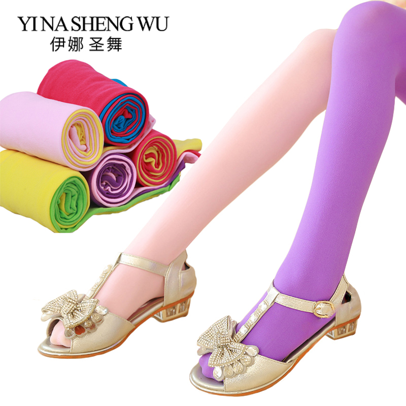 Girl Color Velvet Spring Autumn Ballet Tights Children's Two-color Stitching Leggings New AB Socks Kids Dance Pantyhose 19Colors