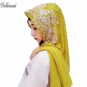 Image 4 - BOHOWAII Islam India Muslim Hijab Scarf 14 Colors Women Underscarf Hoofddoek New Design Kopftuch Headscarf Hijab Femme Musulman