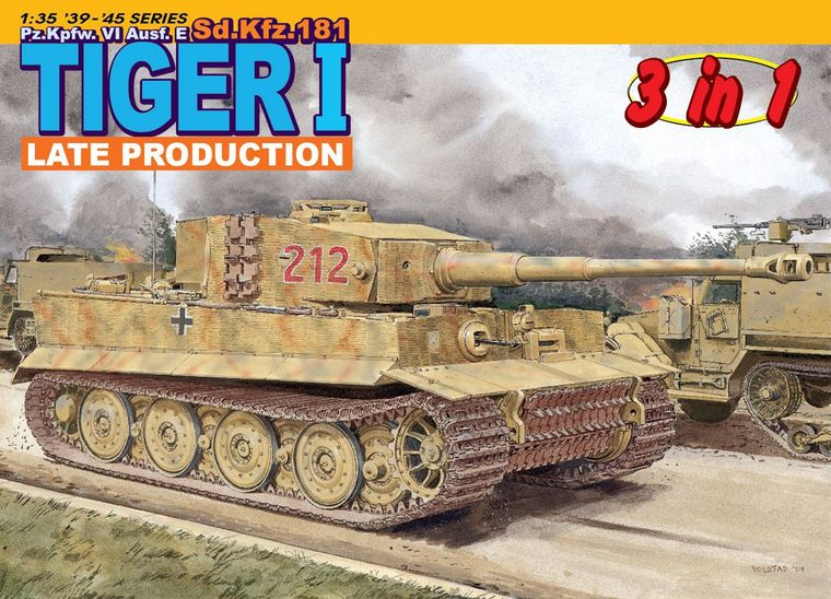 Dragon 1/35 Pz.Kpfw. VI Ausf.E Sd.Kfz.181 Tiger I Late Production # 6253 loft lsn 1003 03