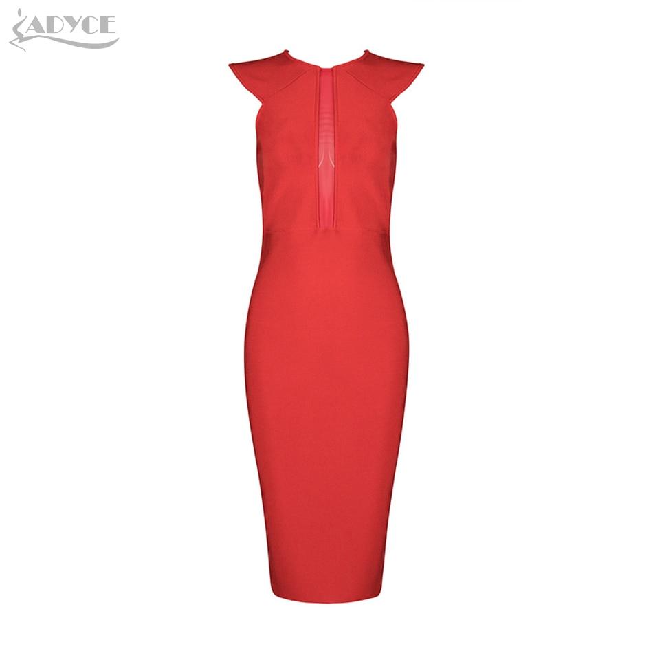 Célébrité Adyce Patchwork Cou Femmes Robes 2018 Bandage Summer Red De Verano O Nouveau Rouge Maille Sexy Party Robe Dentelle xCtsdhQr