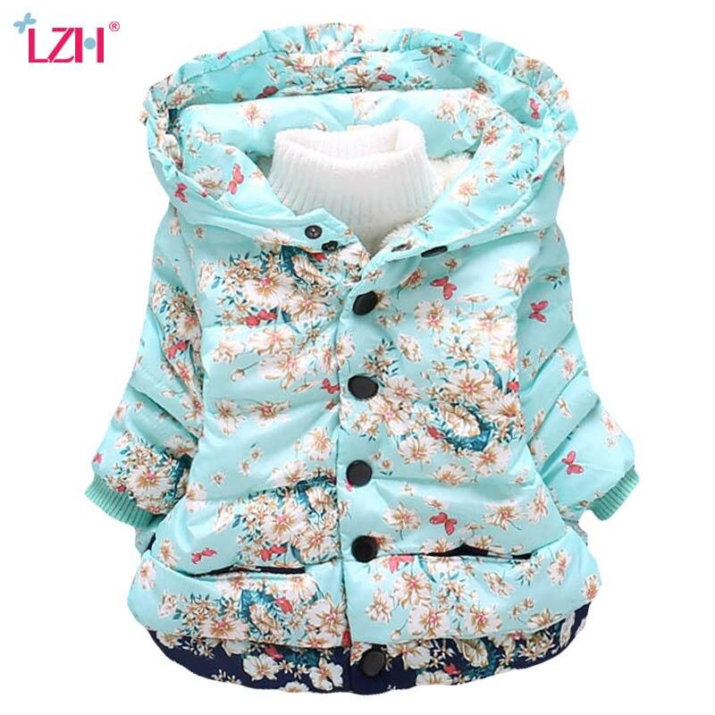 lzh crianca do bebe meninas jaqueta 2020 outono inverno jaqueta para meninas casaco criancas outerwear quente