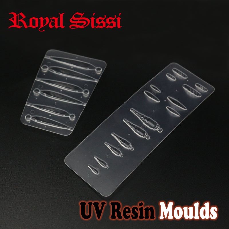 Royal Sissi 1combo Of Fly Tying UV Resin Moulds Shrimp Nymph& Minnow Fish Shape Moulds Assorted UV Resin Shape Fly Tying Tools