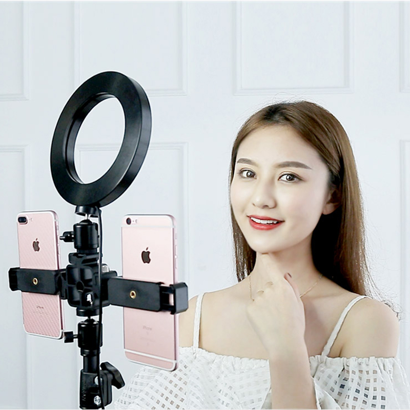 CY Photography LED Ring Light With Steel Light Stand Set for Phone Live Show/Makeup Beauty/Fill-in Lighting Fotografia