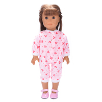 Lovely conjoined Doll Clothes Wear fit 18 inch American Girl Children best Birthday Gift N520