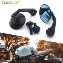 ZORBYZ Black CNC Round Handlebar end Side Mirror 12mm Bolt on For BMW R nineT Scrambler Urban F800R HP4 S1000R