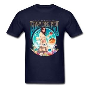 Image 4 - Camiseta de Lana Del Rey fanart para hombre, ropa de manga corta, camisetas populares de algodón con cuello redondo de talla grande, camisetas de Fitness para hombre
