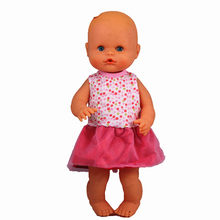 Doll Clothes Fit 35cm Nenuco Doll Nenuco Ropa Baby Realistic Reborn Doll Accessories Fashion Dress Two Section Sleeveless Dress(China)