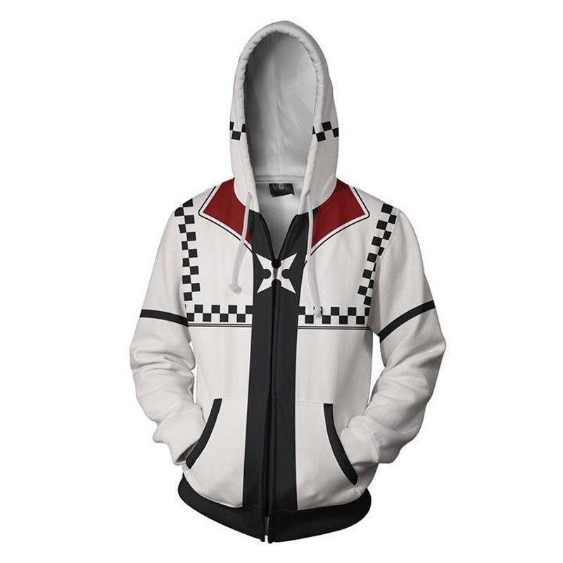 aa86ac67b7603 Anime Game Kingdom Hearts Hoodies 3D Print Sweatshirt Zipper fashions  Cosplay hoodie men hip hop