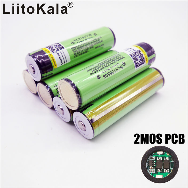 liitokala 2017 for Panasonic ncr18650b New Original 18650 34b 3400mAh battery Li-ion Rechargeable 3400 battery PCB Protected makegood us au 4 gang 1 way smart switch crystal glass panel touch light switch wireless remote control switch for smart home