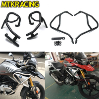 MTKRACING Upper & Lower Crash Bar Engine Guard Bumper Frame Protector for BMW G310GS G310R G 310GS/R G310 GS R 2017 2018