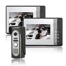"""SYSD 7 """"TFT Color Video de la puerta Sistema de Intercomunicación Del Timbre del teléfono Kit IR monitor de la Cámara del teléfono Manos Libres de intercomunicación"""