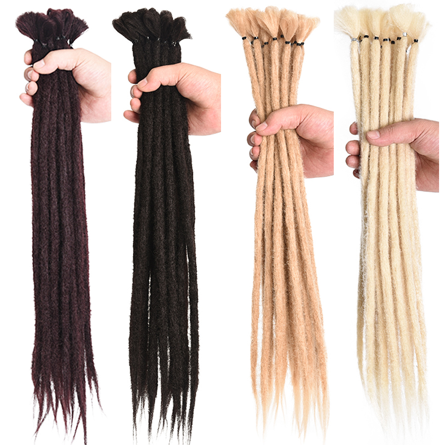 Alileader 17Color 5/10 Strands Dreadlocks Hair Extension For Women Handmade Dreads Synthetic Braiding Hair Crochet Braids Styles