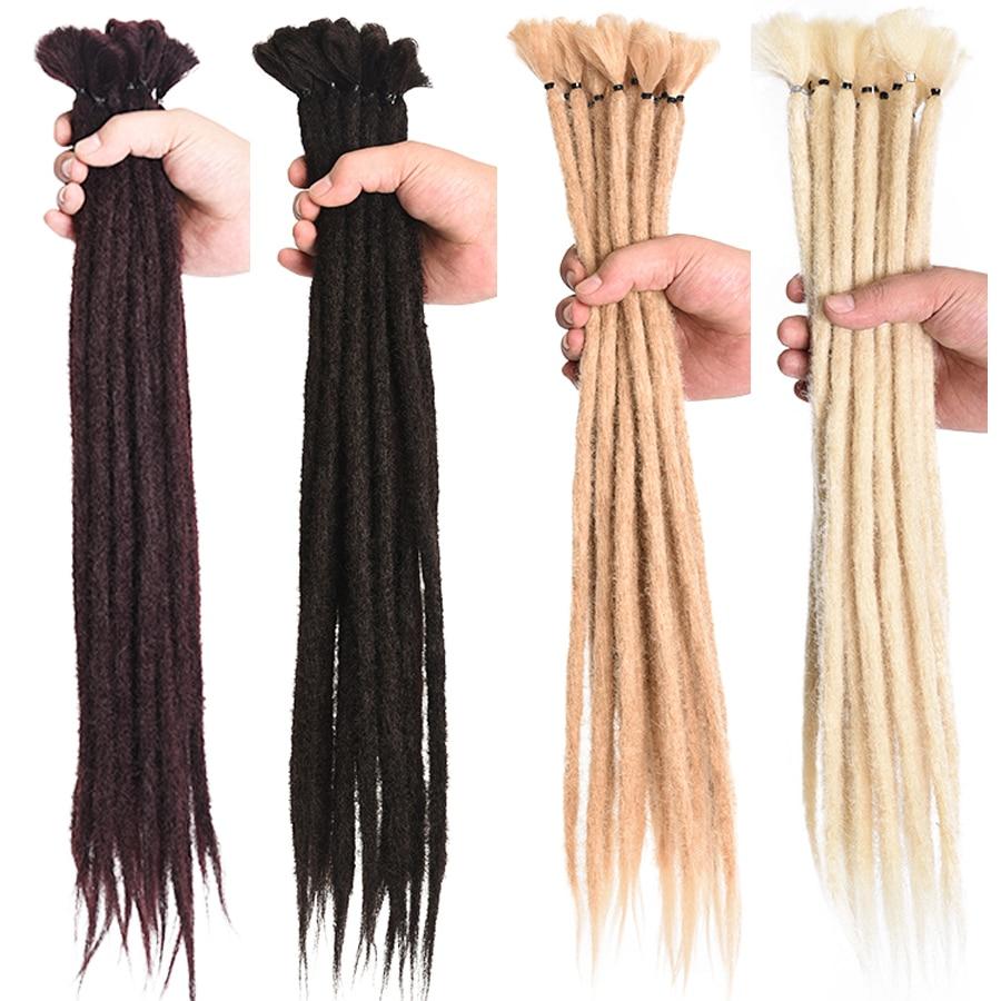 Alileader 17Color 5/10 Strands Dreadlocks Hair Extension For Women Handmade Dreads Synthetic Braiding Hair Crochet Braids Styles