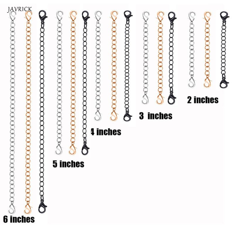 10Pcs Stainless Steel Necklace Bracelet Extender Chains Set DIY Jewelry Making10Pcs Stainless Steel Necklace Bracelet Extender Chains Set DIY Jewelry Making