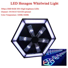 Good Quality DJ Equipment 200W LED Hexagon Whirlwind Light For Stage Effec Atmosphere Of Disco DJ Music Party Club Dance Floor