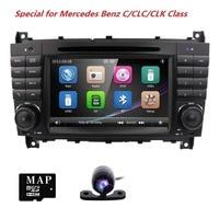 2 din AutoRadio DVD Player Do Carro Para Mercedes Benz C-Classs CLC W 203 CLK Classe W 209 2004 2005 2006 2007 20082009 2010 2011 BT 3G