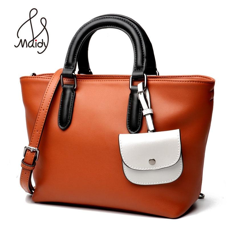 где купить Maidy Luxury Womens Lady Soft Real Cow Leather Handbags Large Capacity Casual Tote Bag Shoulder Messenger Crossbody High Quality дешево