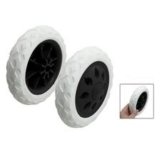 Hot 2 Pcs Black White Hot Wheel Design Travelling Luggage Cart Wheels