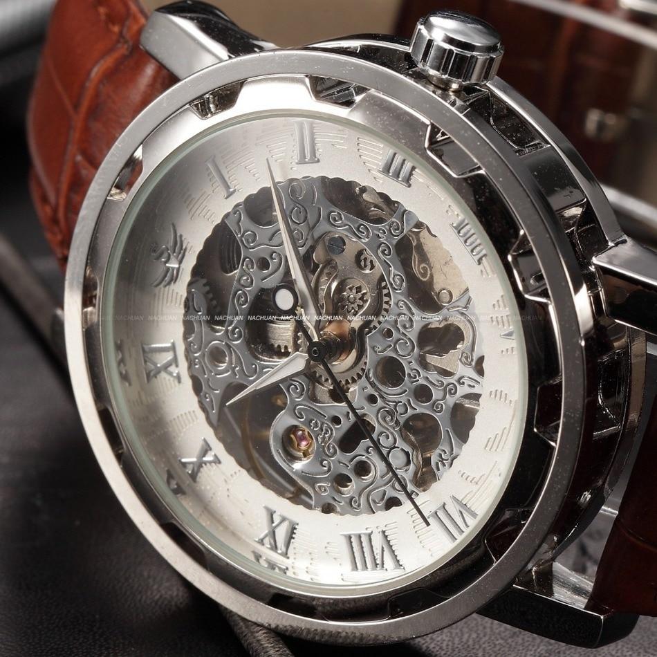 montre homme mecanique bracelet cuir