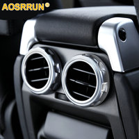 AOSRRUN Chrome Rear Seat Air Conditioning Outlet Ring Car Accessories For Land Rover Range Rover Sport Discovery 4 2009 2016