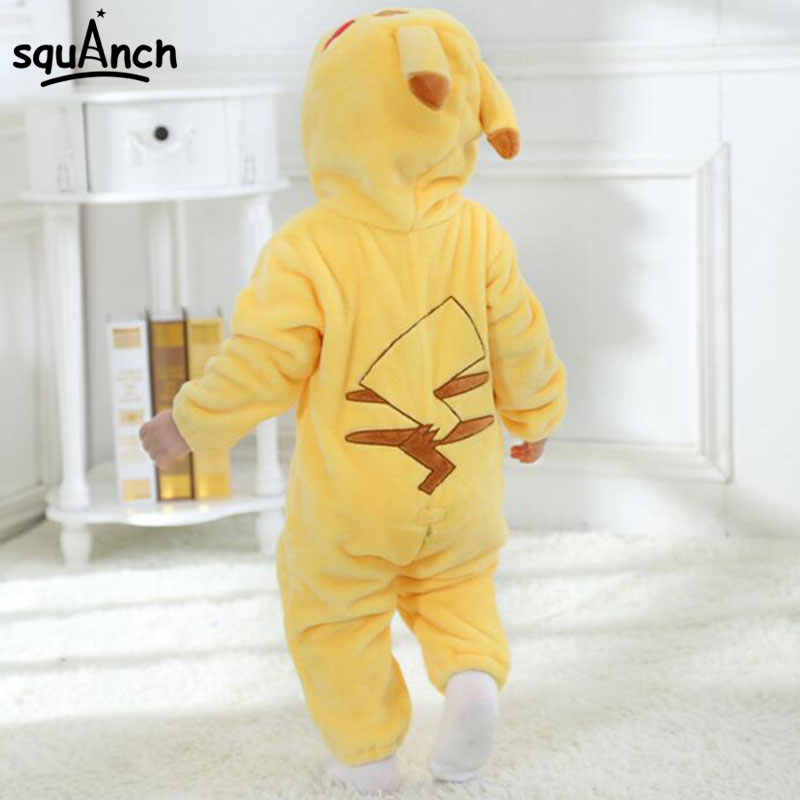 4778950392e4 ... Pokemon Pikachu Onesie Baby Infant Kigurumi Onepiece Pajama Anime  Cartoon Child Festival Party Outfit Sleepwear Winter ...