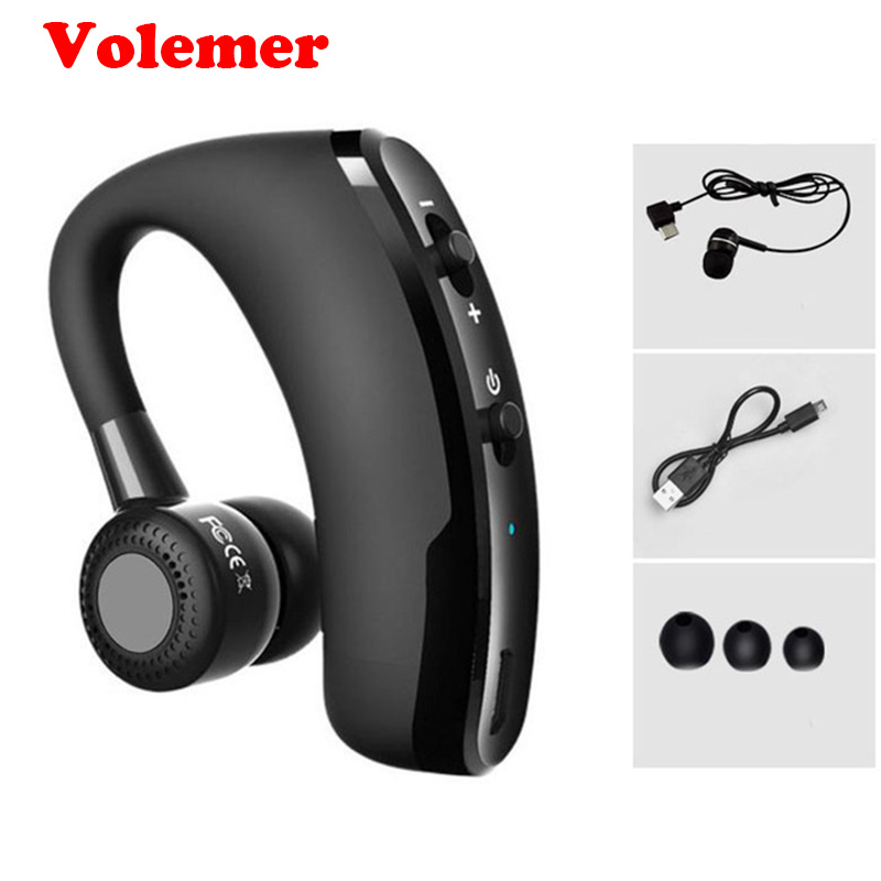 Volemer Bluetooth Earphone V9 Business Voice Control Wireless Headset Car Bluetooth V4.1 Handsfree MIC For iPhone Xiaomi Samsung